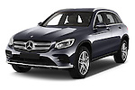 2016 Mercedes Benz GLC Launch Edition 5 Door Suv Angular Front stock photos of front three quarter view