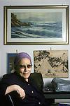 Anna Maria Ortese at home in Genova, Italy, 1988.