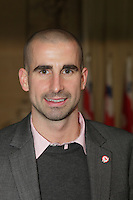 October 29 2012 - Montreal, Quebec, CANADA - Gerald Tremblay, Mayor of Montreal receive at City Hall  local athletes who took part in London 2012  Olympics and Paralympics games.  IN PHOTO : Benoit Huot, paralympic swimmer