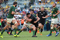 25th September 2021; Townsville, Gold Coast, Australia;  Nepo Laulala is stopped on a run.<br /> All Blacks versus Springboks. The Rugby Championship. 100th Rugby Union test match between New Zealand and South Africa.