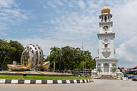 George Town, Penang, Malaysia. Victoria Clock Tower.