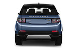 Straight rear view of a 2020 Land Rover Discovery Sport S 5 Door SUV stock images