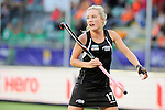 The Hague, Netherlands, June 05: Sophie Cocks #17 of New Zealand looks on during the field hockey group match (Women - Group A) between New Zealand and The Netherlands on June 5, 2014 during the World Cup 2014 at Kyocera Stadium in The Hague, Netherlands. Final score 0-2 (0-2) (Photo by Dirk Markgraf / www.265-images.com) *** Local caption ***