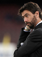 Calcio, Serie A: Napoli vs Juventus. Napoli, stadio San Paolo, 26 settembre 2015. <br /> Juventus' president Andrea Agnelli waits for the start of the Italian Serie A football match between Napoli and Juventus at Naple's San Paolo stadium, 26 September 2015.<br /> UPDATE IMAGES PRESS/Isabella Bonotto<br /> <br /> *** ITALY AND GERMANY OUT ***