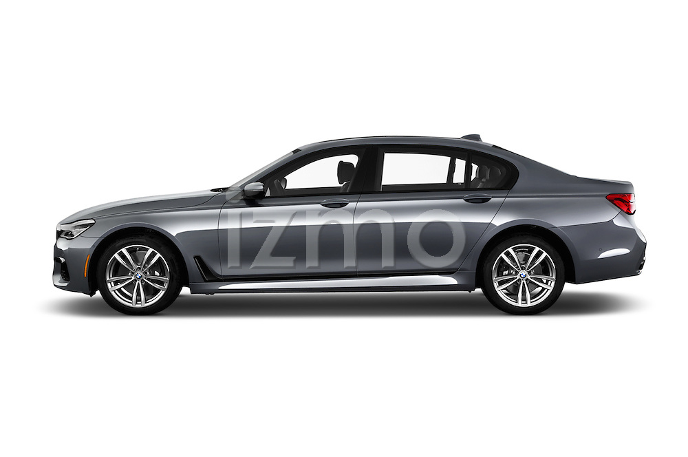Car Driver side profile view of a 2017 BMW 7 Series 750i M Sport 4 Door Sedan Side View