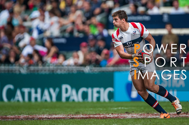 Fiji vs United States on Cup Quarter Final during the Cathay Pacific / HSBC Hong Kong Sevens at the Hong Kong Stadium on 30 March 2014 in Hong Kong, China. Photo by Juan Flor / Power Sport Images