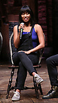 "Karla Garcia from the 'Hamilton' cast during a Q & A before The Rockefeller Foundation and The Gilder Lehrman Institute of American History sponsored High School student #EduHam matinee performance of ""Hamilton"" at the Richard Rodgers Theatre on June 6, 2018 in New York City."