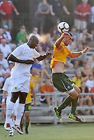 Mamadou (Futty) Danso-Portland Timbers (white), Jeff Cosgriff-AC St Louis,..AC St Louis defeated Portland Timbers 3-0 at Anheuser-Busch Soccer Park, Fenton, Mssouri.
