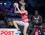 28/10/17 Fast5 2017<br /> Fast 5 Netball World Series<br /> Hisense Arena Melbourne<br /> England v Sth Africa<br /> Jo Harten<br /> <br /> <br /> <br /> <br /> <br /> Photo: Grant Treeby