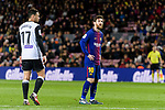 Lionel Messi of FC Barcelona (R) during the Copa Del Rey 2017-18 match between FC Barcelona and Valencia CF at Camp Nou Stadium on 01 February 2018 in Barcelona, Spain. Photo by Vicens Gimenez / Power Sport Images