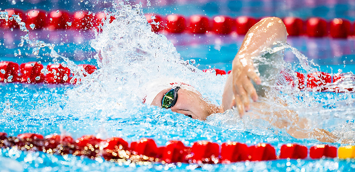 Tyson MacDonald, Lima 2019 - Para Swimming // Paranatation.<br /> Tyson MacDonald competes in competes in the men's 200m freestyle S14 // Tyson MacDonald participe au 200 m nage libre masculin S14. 26/08/2019.