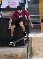 BOGOTA - COLOMBIA - 13 - 08 - 2017: Guilherme Parada, Skater de Brasil, durante competencia en el Primer Campeonato Panamericano de Skateboarding, que se realiza en el Palacio de los Deportes en la Ciudad de Bogota. / Guilherme Parada,  Skater from Brazil, during a competitions in the First Pan American Championship of Skateboarding, that takes place in the Palace of Sports in the City of Bogota. Photo: VizzorImage / Luis Ramirez / Staff.