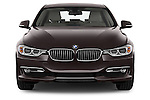 Straight front view of a 2012 - 2014 BMW 3-Series 320d Modern 4 Door Sedan.