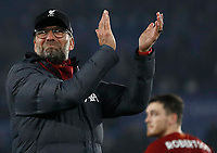 Liverpool manager Jurgen Klopp reacts after the Premier League match against Leicester City at the King Power Stadium, Leicester. Picture date: 26th December 2019. Picture credit should read: Darren Staples/Sportimage PUBLICATIONxNOTxINxUK SPI-0397-0038<br /> Leicester Vs Liverpool <br /> Foto Imago/Insidefoto <br /> ITALY ONLY