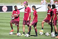 Joel Gerezgiher (Eintracht Frankfurt), Alexander Meier (Eintracht Frankfurt), Makoto Hasebe (Eintracht Frankfurt), Omar Mascarell (Eintracht Frankfurt), Jesus Vallejo (Eintracht Frankfurt) - Eintracht Frankfurt Training, Commerzbank Arena