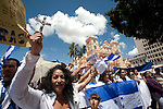 7 July 2009 - Tegucigalpa, Honduras  Supporters of Honduras' interim President Roberto Micheletti during a rally in Tegucigalpa, capital of Honduras. Photo credit: Benedicte Desrus