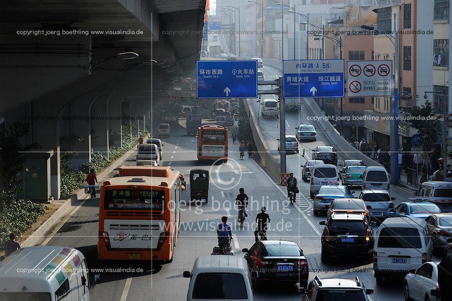 CHINA province Guangdong, city Guangzhou / VR CHINA , Metropole Guangzhou Kanton