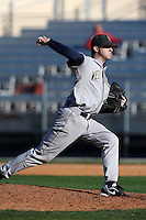 February 26, 2010:  Pitcher Andy Altemus (15) of the West Virginia Moutaineers during the Big East/Big 10 Challenge at Bright House Field in Clearwater, FL.  Photo By Mike Janes/Four Seam Images