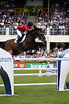 August 07, 2009: Judy-Ann Melchoir (BEL) aboard Aktion Pur Z. Meydan FEI Nations Cup. Failte Ireland Horse Show. The RDS, Dublin, Ireland.