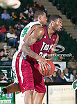 Troy Trojans forward Ray Chambers (34) in action during the game between the Troy Trojans and the University of North Texas Mean Green at the North Texas Coliseum,the Super Pit, in Denton, Texas. UNT defeats Troy 87 to 65.....