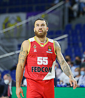 13th October 2021; Wizink Center; Madrid, Spain; Turkish Airlines Euroleague Basketball; game 3; Real Madrid versus AS Monaco; Mike James (AS Monaco)