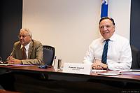 Le cabinet Legault durant la crise du COVID 19<br /> <br /> le 14  aout 2020