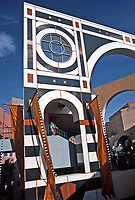 Horton Plaza: Designed by Jon Jerde, Architect. Post-Modern, whimsical.  Photo Jan. 1987.