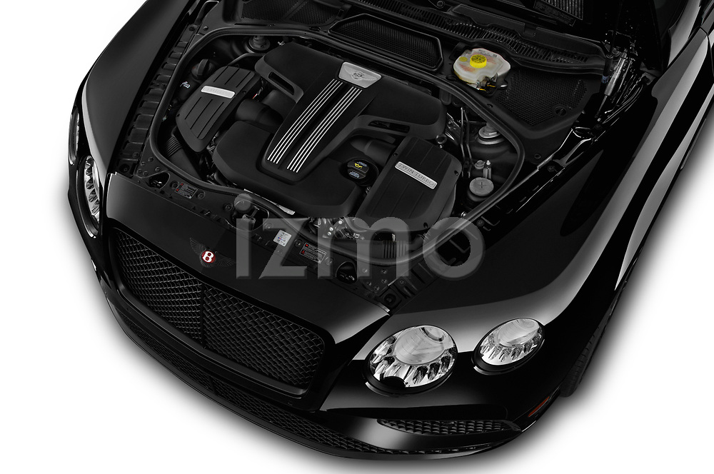 Car Stock 2017 Bentley Continental-GT V8 3 Door Coupe Engine  high angle detail view