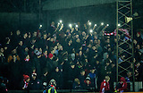 17.02.2015  Berwick Rangers v Spartans, Scottish Cup 5th Round Replay  ..................   SPARTANS FANS LIGHT UP