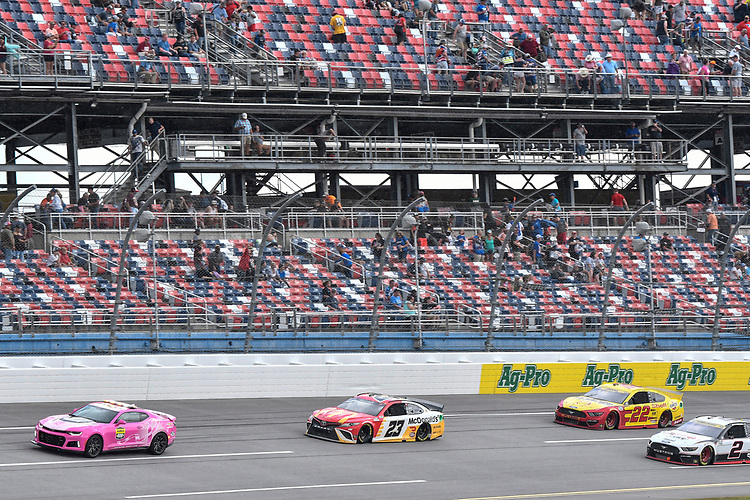 #23: Bubba Wallace, 23XI Racing, Toyota Camry McDonald's leads during the rain delay