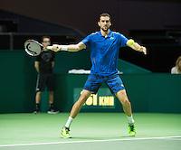 Rotterdam, The Netherlands, Februari 10, 2016,  ABNAMROWTT, Marin Cilic (CRO) <br /> Photo: Tennisimages/Henk Koster