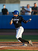 IMG Academy Ascenders Evan Appelwick (8) bats during a game against the Jesuit Tigers on April 21, 2021 at IMG Academy in Bradenton, Florida.  (Mike Janes/Four Seam Images)