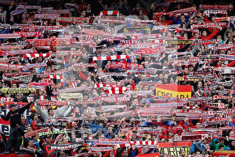 Atletico's supporters during La Liga BBVA match. April 27, 2013.(ALTERPHOTOS/Alconada)