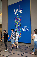 Milan, Italy , july 3 2021 - first day of summer sales - sales at La Rinascente