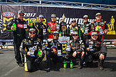 NHRA Mello Yello Drag Racing Series<br /> NHRA Carolina Nationals<br /> zMAX Dragway, Concord, NC USA<br /> Sunday 17 September 2017 Antron Brown, Doug Kalitta, Shawn Langdon, top fuel dragster<br /> <br /> World Copyright: Mark Rebilas<br /> Rebilas Photo