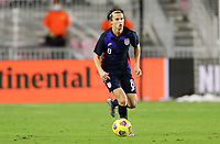 FORT LAUDERDALE, FL - DECEMBER 09: Brenden Aaronson #8 of the United States moves to the ball during a game between El Salvador and USMNT at Inter Miami CF Stadium on December 09, 2020 in Fort Lauderdale, Florida.