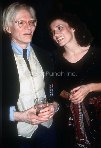 Andy Warhol Margaret Trudeau<br />Studio 54 1978<br />Photo By Adam Scull/PHOTOlink.net /MediaPunch