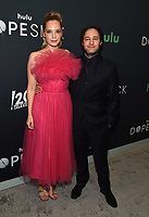 """NEW YORK CITY - OCTOBER 4: Executive Producer Danny Strong and Caitlin Mehner attend the red carpet premiere of Hulu's """"DOPESICK"""" at the Museum of Modern Art on October 4, 2021 in New York City. . (Photo by Frank Micelotta/Hulu/PictureGroup)"""