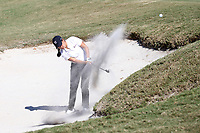 CHAPEL HILL, NC - OCTOBER 11: Lois Kaye Go of the University of South Carolina hits out of a sand trap at UNC Finley Golf Course on October 11, 2019 in Chapel Hill, North Carolina.