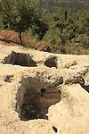 Israel, Jerusalem Mountains, an anciect wine press in Tzuba