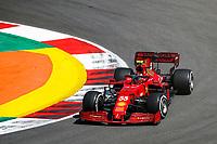 30th April 2021; Algarve International Circuit, in Portimao, Portugal; F1 Grand Prix of Portugal, Free practise:  55 SAINZ Carlos (spa), Scuderia Ferrari SF21