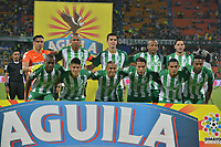 MEDELLÍN - COLOMBIA, 15-04-2018: Jugadores del Nacional posan para una foto previo al encuentro entre Atlético Nacional y Rionegro Águilas por la fecha 15 de la Liga Águila I 2018 jugado en el estadio Atanasio Girardot de la ciudad de Medellín. / Players of Nacional pose to a photo prior the match between Atletico Nacional and Rionegro Aguilas for the date 15 of the Aguila League I 2018 at Atanasio Girardot stadium in Medellin city. Photo: VizzorImage/León Monsalve/Cont