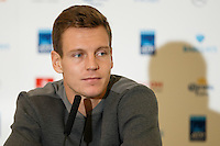 Tomas Berdych during an interview at a media day at the Barclays ATP World Tour Finals at The O2 centre, North Greenwich, London.