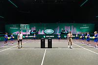 Rotterdam, The Netherlands,7 march  2021, ABNAMRO World Tennis Tournament, Ahoy,  <br /> Final: Finalist Andrey Rublev (RUS) (R) and runner up Marton Fucsovics (HUN) (L).<br /> Photo: www.tennisimages.com/