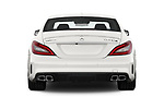 Straight rear view of 2017 Mercedes Benz CLS-Class AMG-CLS63-4MATIC 4 Door Sedan Rear View  stock images