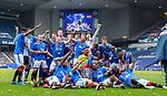 15.05.2021 Rangers v Aberdeen: Rangers celebrate the league title