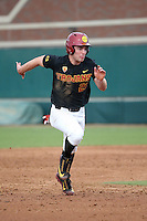 Brady Shockey #23 of the Southern California Trojans runs the bases during a game against the Coppin State Eagles at Dedeaux Field on February 18, 2017 in Los Angeles, California. Southern California defeated Coppin State, 22-2. (Larry Goren/Four Seam Images)