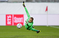 ST. GALLEN, SWITZERLAND - MAY 30: Ethan Horvath #1 of the United States saves a PK during a game between Switzerland and USMNT at Kybunpark on May 30, 2021 in St. Gallen, Switzerland.