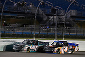 NASCAR Camping World Truck Series<br /> Ford EcoBoost 200<br /> Homestead-Miami Speedway, Homestead, FL USA<br /> Friday 17 November 2017<br /> Ryan Truex, Chiba Toyopet Toyota Tundra and Christopher Bell, JBL Toyota Tundra<br /> World Copyright: Nigel Kinrade<br /> LAT Images