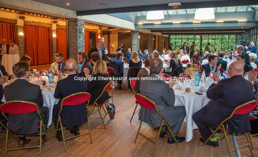Arena Loire,  Trélazé,  France, 14 April, 2016, Semifinal FedCup, France-Netherlands, Official Diner,  <br /> Photo: Henk Koster/Tennisimages
